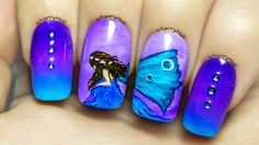 Blue Fairy ⎮ Freehand Nail Art Tutorial