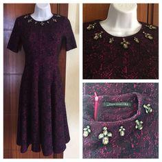 Zara Bejeweled Neckline Dress
