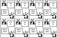 Panda multiplication Multiplication, French For Beginners, French Teacher, Projects To Try, School, Cycle 3, Classroom Ideas, Calculus, Learning