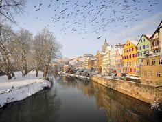 Neckarbogen Tübingen | Die Stadt