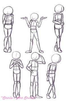Figure Drawing Poses Shy Poses: Here is a quick reference page for shy or nervous poses. For more tips visit the video linked to this pin! (Drawn by Starla's Art Studio YT) Art Drawings Sketches, Cartoon Drawings, Cool Drawings, Hand Drawings, Body Sketches, Art Illustrations, Drawing Techniques, Drawing Tips, Drawing Ideas