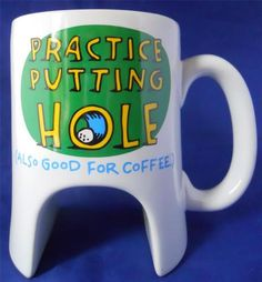 Golf Practice Putting Hole Shoebox Ceramic Novelty Coffee Mug Cup 16 Oz