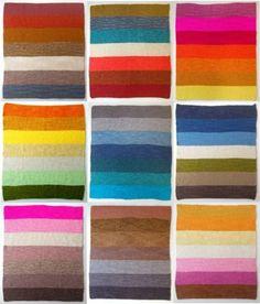 Paletas de colores tejidas