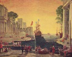 Claude Gellée (Le Lorrain) - Port de mer avec Ulysses rendant Chryséis à son père Chrysés (c. 1644)