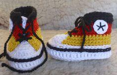 Baby-Chucks für Fußball-WM in Schwarz-Rot-Gold