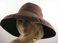 Brown Scala Hat Ladies UV Sun Protection UPF 50+ Wide Brim LC-399 Wide 8934779e8ef1