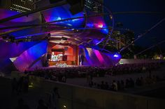 Jazz In The Night by Michael Wilhelmi on Capture My Chicago // Chicago's 36th annual Jazz Festival opens at the Pritzker Pavilion.