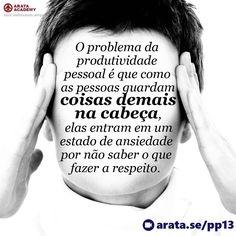 http://arata.se/pp13 O problema da produtividade pessoal é que como as pessoas guardam coisas demais na cabeça elas entram em um estado de ansiedade por não saber o que fazer a respeito. __________________________________________________________________________ #ArataAcademy #ArataAcademyPORTUGUESE #AutoDesenvolvimento #Domínio #edtech #elearning #instadaily #PhotoOfTheDay #PicOfTheDay #Produtividade #SeiitiArata #problema #pessoal #cabeça #portugues