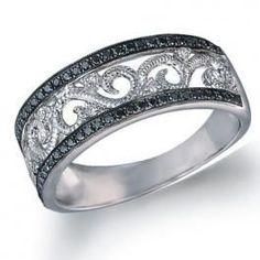 Trendy Diamond Rings : Love this.   Black Diamond Ring