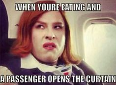 Which one of you has ever made this face? Bad cabin crew, bad...#funny #crewlife