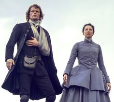 New promo pic of Jamie & Claire Fraser in Season 3.
