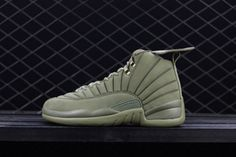 3c3bf299365924 PSNY x Air Jordan 12 Milan Medium Olive For Sale