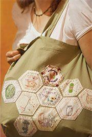 Like Girl Scouts for grown ups******Carrie Meerwarth's bag, chock full of sewn-on merit badges - Merit Badge Awardees