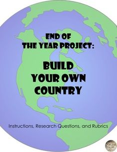 End the school year with a bang! Dig deep into geography as your students explore their creativity by building their own country. Students will build their countries map, flag, culture, and history in this highly engaging student centered activity. World Geography Lessons, Ap Human Geography, Teaching Geography, Teaching History, Geography Classroom, Geography Quiz, Teaching Tips, 7th Grade Social Studies, Social Studies Activities
