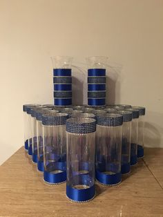 Royal Blue Amp Silver Centerpieces Decorations Ideas Mesas De Boda