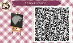 HOUSE STARK. GAME OF THRONES. ANIMAL CROSSING NEW LEAF. QR CODE. ACNL. PINNED BY Stephy Sama