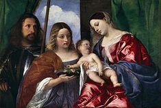 Tiziano   La Madonna tra i santi Giorgio e Dorotea è un dipinto a olio su tavola (86×130cm), databile al 1516 circa e conservato nel Museo del Prado di Madrid. Si tratta del primo dipinto di Tiziano entrato nelle proprietà di Filippo II di Spagna, che lo inviò al monastero dell'Escorial nel 1593. Fu trasferito nel Museo del Prado nel 1839.