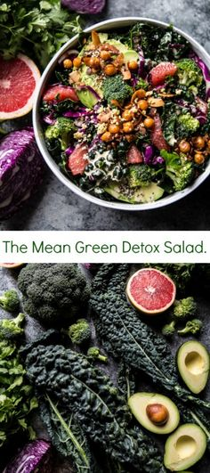 The Mean Green Detox Salad | halfbakedharvest.com @hbharvest | healthy recipe ideas @xhealthyrecipex |