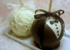 Bride & Groom caramel apples