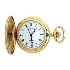 Mount Royal - Polished Gold Plated Full Hunter 17 Jewel Mechanical Pocket Watch - B23M - (WW1744) - 4.4cm diameter x 0.9cm depth Mount Royal. $118.00