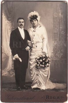 married couple cabinet card