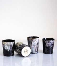 // Rose & Fitzgerald Cow Horn Whiskey Tumbler Set