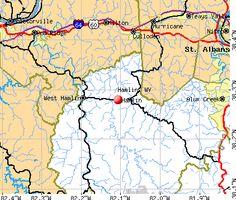 Map of downtown Charleston WV Almost Heaven Charleston WVa