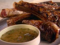 Get Grilled Lamb with Apple-Mint Jelly Recipe from Food Network
