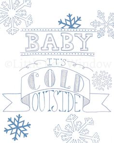 Baby it's Cold Outside Christmas Carol Printable by LittleRedWindow on Etsy