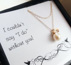 Present for the maid of honor
