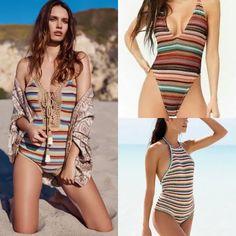 Maiô de crochê: invista nessa peça · Anatomia de uma leitora Moda Online, Tankini, Bikinis, Swimwear, Ideias Fashion, Cover Up, One Piece, Bra, Dresses