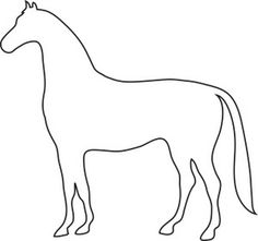 Free Horse Clip Art Image: Outline Drawing of a Horse Horse Outline, Animal Outline, Horse Clip Art, Horse Template, Barn Crafts, Horse Clipping, Horse Quilt, Derby Horse, Farm Quilt