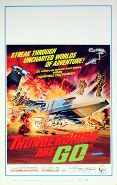 Thunderbirds are Go, 1967 - original vintage supermarionation (puppetry) film poster listed on AntikBar.co.uk