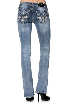 a2089e03127 Leather Cheetah Pattern Insert Boot Cut Jeans by missme