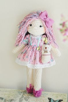 Crochet Doll / Wool Doll / Eco friendly  Ready ♡ by LinaMarieDolls