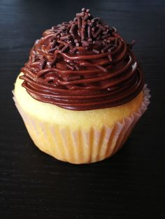 Gluten-free cupcake with chocolate cream cheese icing