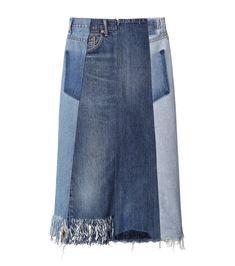 77サーカ/77circa - Fringe Denim Skirt-INDIGO(スカート/skirt)   RESTIR リステア