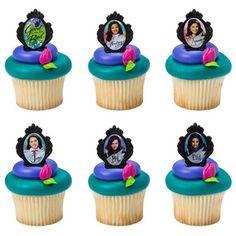 24  Descendants Cupcake Topper Rings