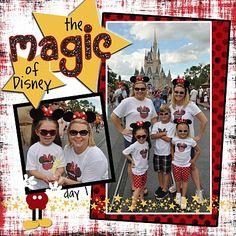 The Magic of Disney, Disney scrapbook layout