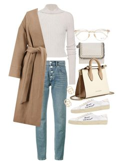 """Untitled #23301"" by florencia95 ❤ liked on Polyvore featuring Helmut Lang, Balenciaga, IRO, Ray-Ban, STELLA McCARTNEY, Yves Saint Laurent, Strathberry and Gucci"