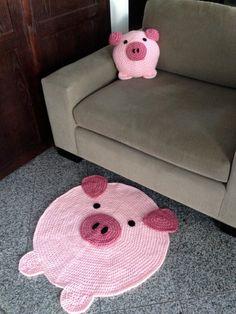 Pig Rug por peanutbutterdynamite en Etsy