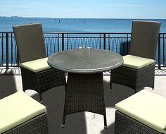 Pintas valgomojo komplektas PF92  4 kėdės (45 * 55 * 98)   1 stalas su stiklu (80 * 80 * 72)   Aliuminio rėmas   Plokščia vytelė - auksas (NT-106)   Minkšta dalis - šviesiai žalia   Kaina 1999 LTL