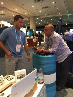 Account Manager John talking sales strategy with our VP of Business Development Jason. Click the photo to see the rest of our photos from SMX East 2015.