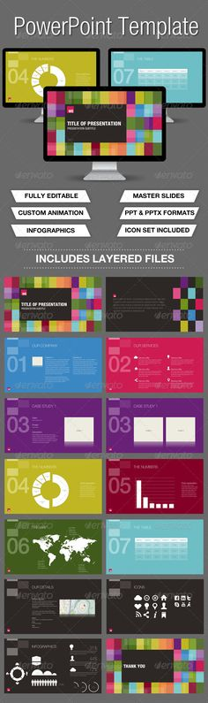 Buy Colour Powerpoint Presentation by wozzabikes on GraphicRiver. A very colourful PowerPoint Template A very customizable PowerPoint template. The presentation template is very easy . Keynote Presentation, Design Presentation, Business Presentation, Powerpoint Presentation Templates, Keynote Template, Presentation Slides, Powerpoint Presentations, Presentation Folder, Flyer Template