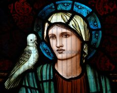 Christ Church, Southgate, London South, by Morris and Co, 1909 - Patience and Peace : detail - Peace, by Burne Jones
