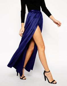 Enlarge ASOS Maxi Skirt with Soft Split