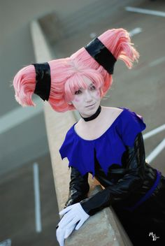Jinx from Teen Titans cosplay. Never seen that one done before.
