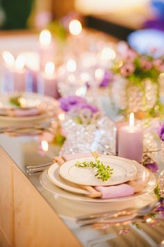 rustic chic wedding table with mirror top, lavender and vines