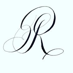 Letter R, inked and sketched! Life happened, so I'm trying to catch up! Calligraphy Fonts Alphabet, Copperplate Calligraphy, Tattoo Lettering Fonts, Hand Lettering Alphabet, Penmanship, Fancy Letter M, Letter R Tattoo, Creative Lettering, Typography Inspiration