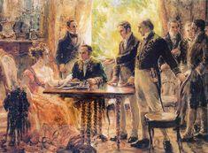 Dona Maria Leopoldina, como regente do Reino do Brasil, preside a reunião do Conselho em 2 de setembro de 1822.